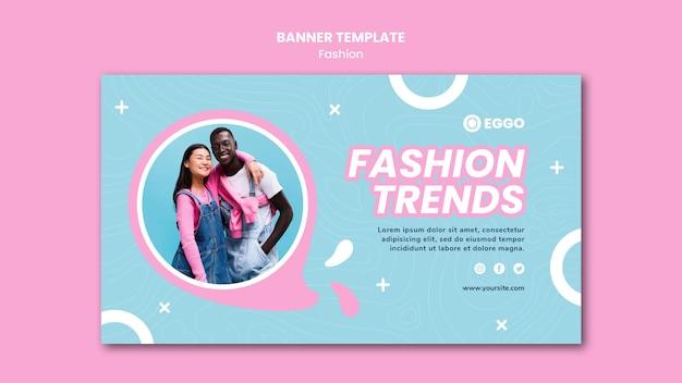 Mode winkel sjabloon voor spandoek met foto