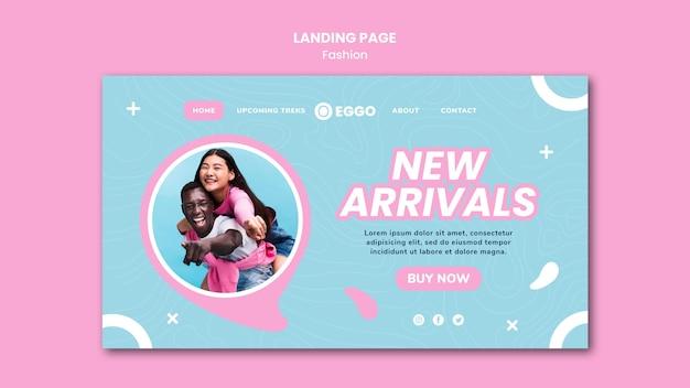 Mode winkel webpagina