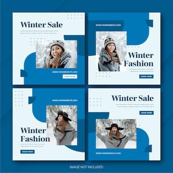 Mode winter sale instagram postbundelsjabloon
