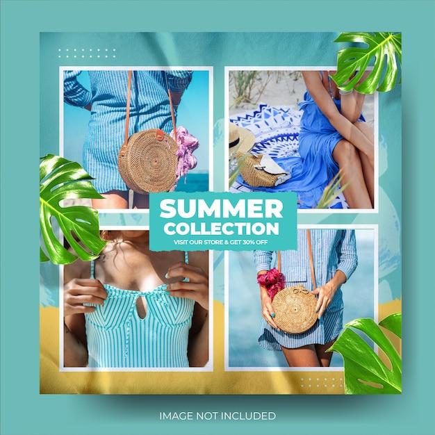 Mode zomer verkoop instagram post feed