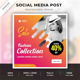 Modecollectie sociale media post