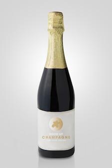 Model met champagnefles