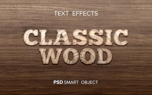 Model met houtteksteffect