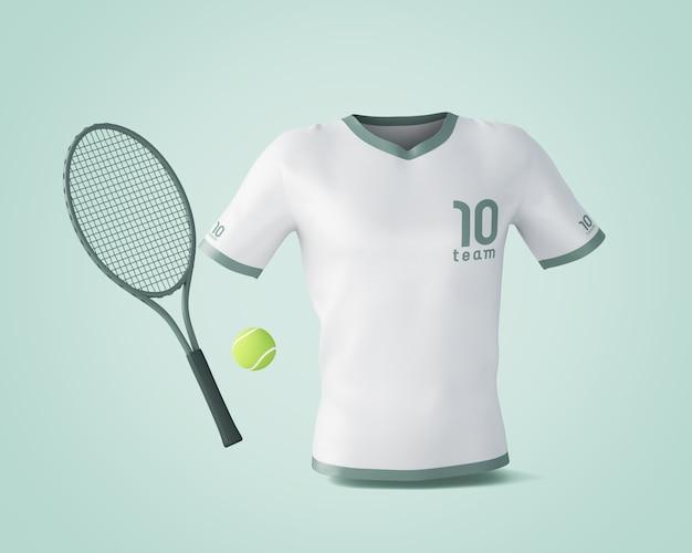 Model met sportshirt met merklogo