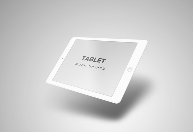 Model met tabletperspectief
