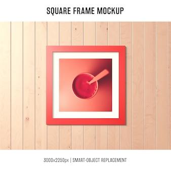 Model met vierkante rand