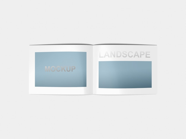 Model mockup a4-landschap