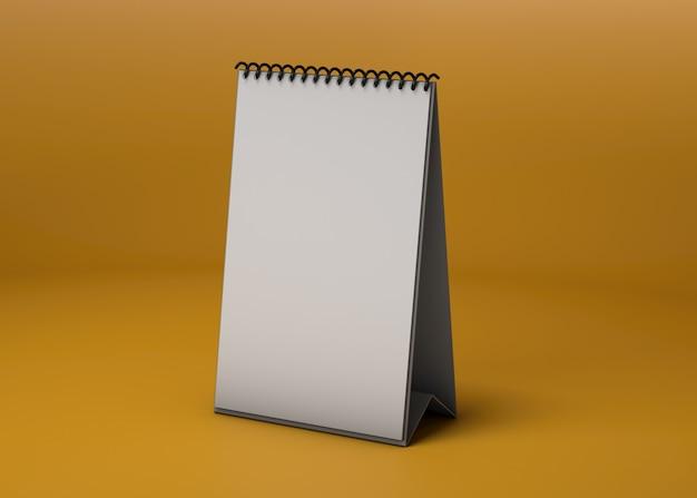 Model mockup met verticale kalender