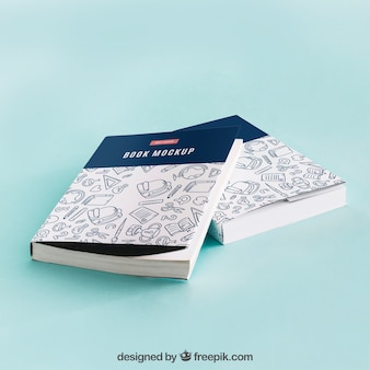 Model mockup van boekomslag van twee