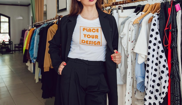 Model t-shirt voor meisjes