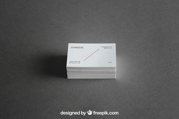 Model van de visitekaartjesstapel