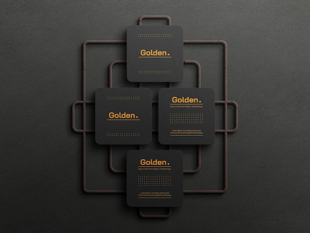 Model voor luxe visitekaartjes van goudfolie gold