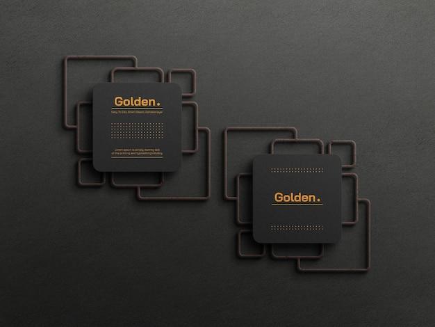 Model voor luxe visitekaartjes van goudfolie