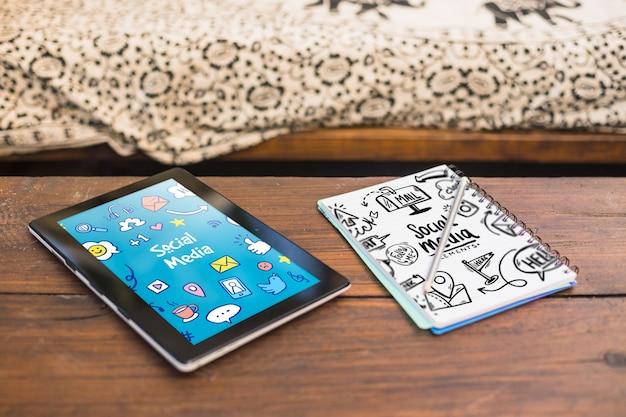 Model voor tablets en kladblokken