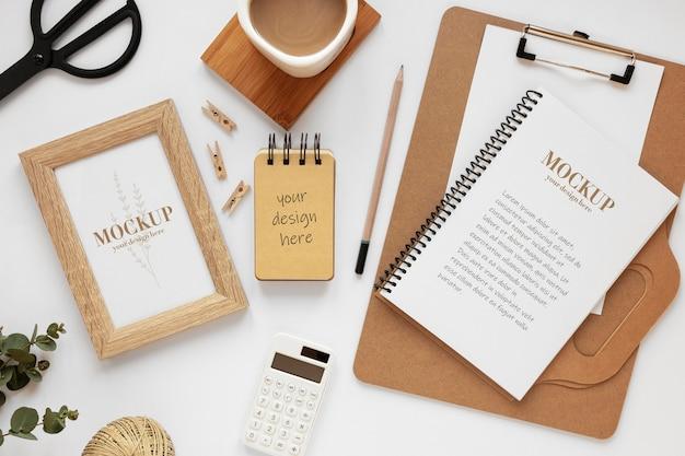 Modelassortiment voor schrijfwaren van natuurlijk materiaal