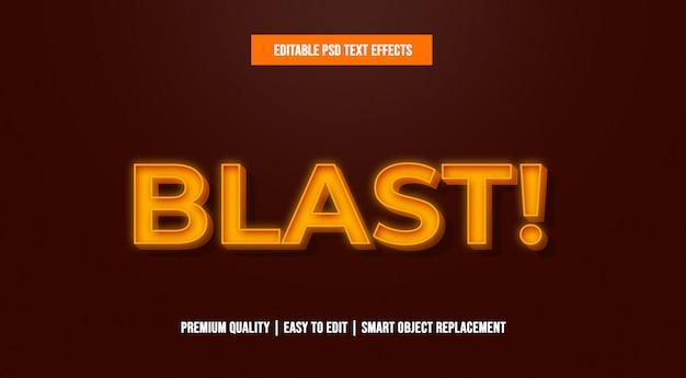 Modelli di effetti di testo modificabili blast psd