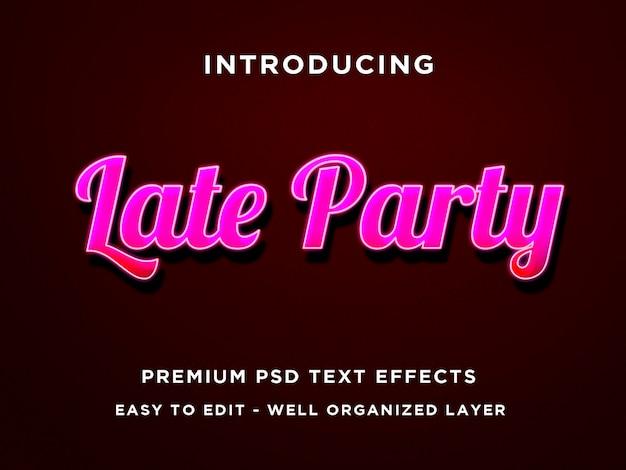 Modelli di effetti di testo rosa late party