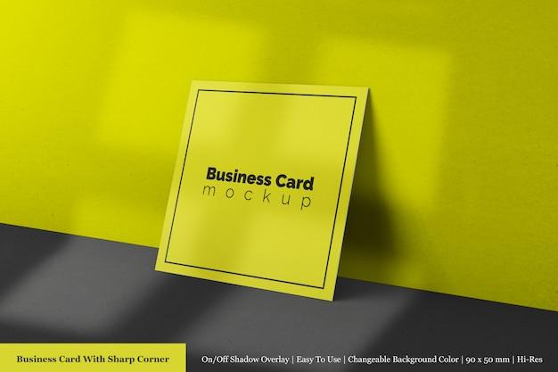 Modelli psd di mock up per biglietti da visita aziendali premium quadrati quadrati modificabili