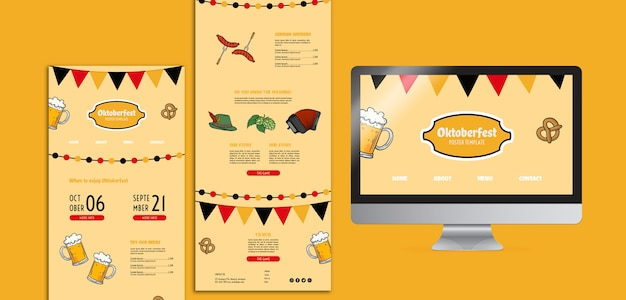 Modelli web dell'oktoberfest