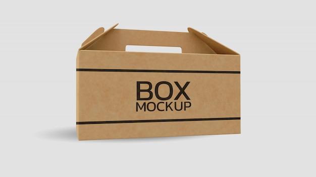 Modello 3d della scatola di carta che rende realistico