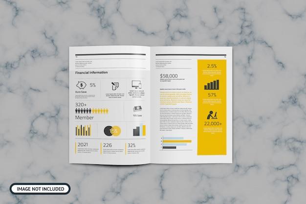 Modello brochure mockup formato a4