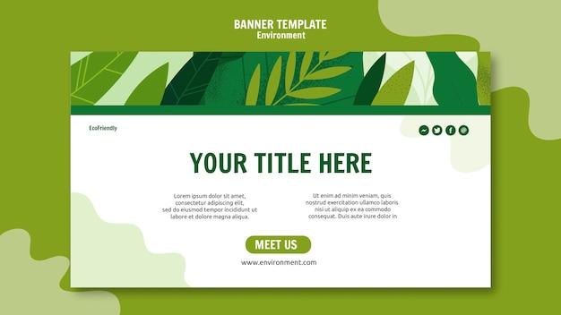 Modello colorato banner ecologico