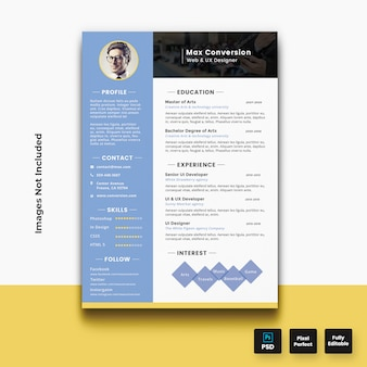 Modello CV curriculum moderno