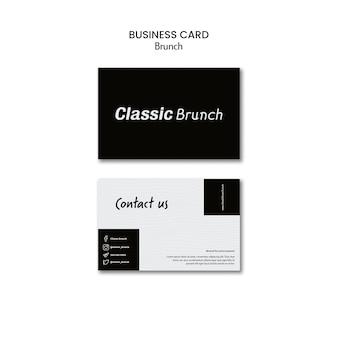 Modello del biglietto da visita di concetto del brunch