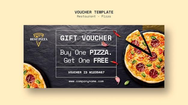 Modello del buono per ristorante pizzeria