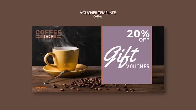 Modello del buono regalo della caffetteria