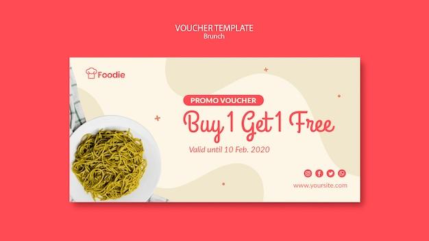 Modello del buono regalo per ristorante