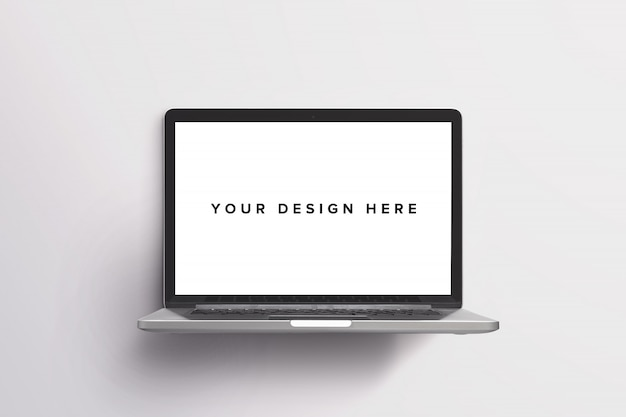 Modello del computer portatile su bianco