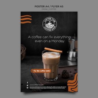 Modello del manifesto del caffè
