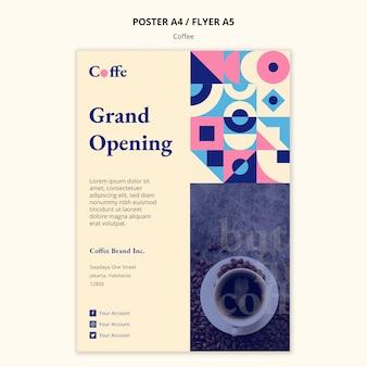 Modello del manifesto del concetto di caffè