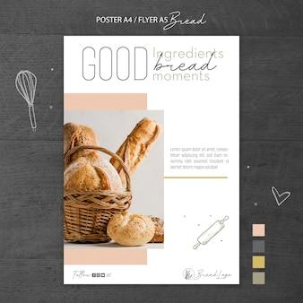 Modello del manifesto del concetto di pane