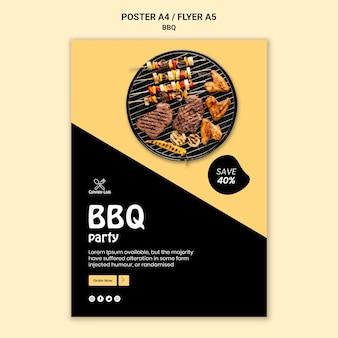 Modello del manifesto del partito barbecue