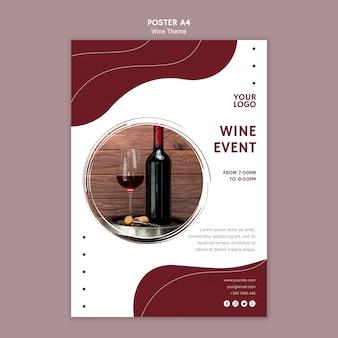 Modello del manifesto dell'evento del vino