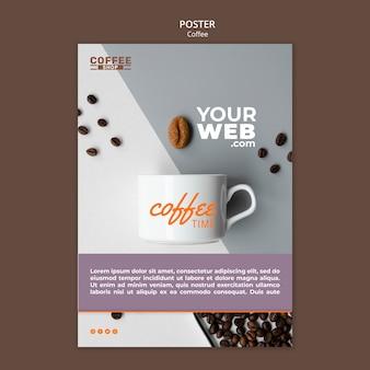 Modello del manifesto della caffetteria