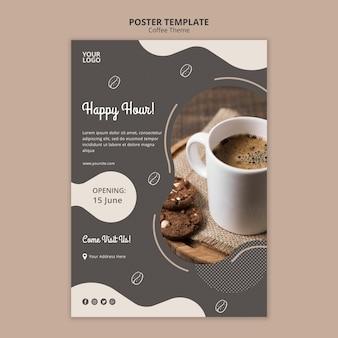 Modello del manifesto di concetto della caffetteria