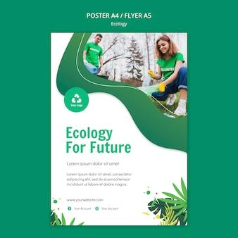 Modello del manifesto di concetto di ecologia