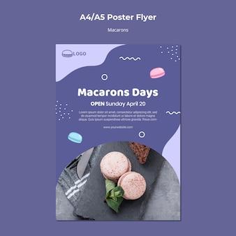 Modello del manifesto di concetto di macarons