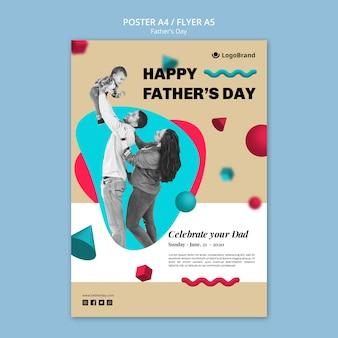 Modello del manifesto di festa del papà della riunione della famiglia