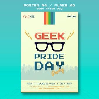 Modello del manifesto di giorno di orgoglio geek