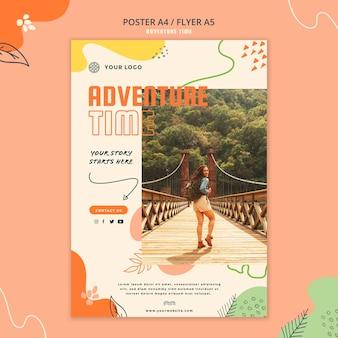 Modello del manifesto di tempo di avventura