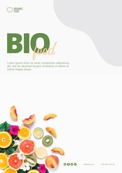 Modello dell'aletta di filatoio dell'alimento bio con la foto