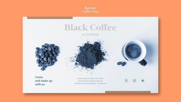 Modello dell'insegna della caffetteria