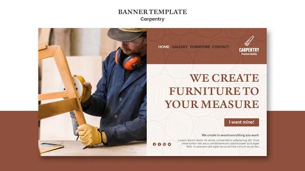 Modello dell'insegna di concetto di carpenteria