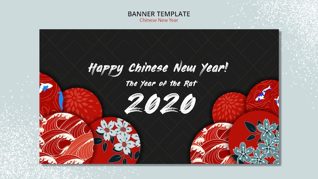 Modello dell'insegna per il nuovo anno cinese