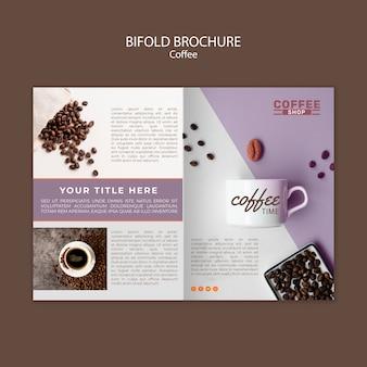 Modello dell'opuscolo bifold caffetteria