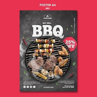 Modello della bandiera del barbecue